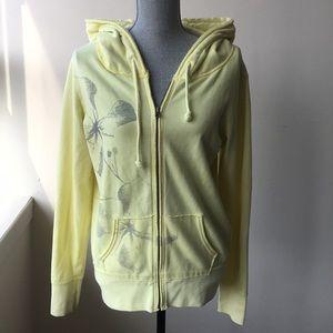💖American Eagle zip up hooded floral hoodie